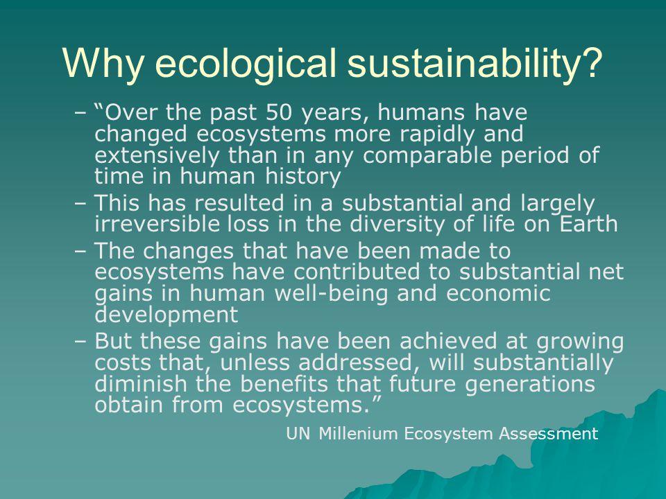 Why ecological sustainability