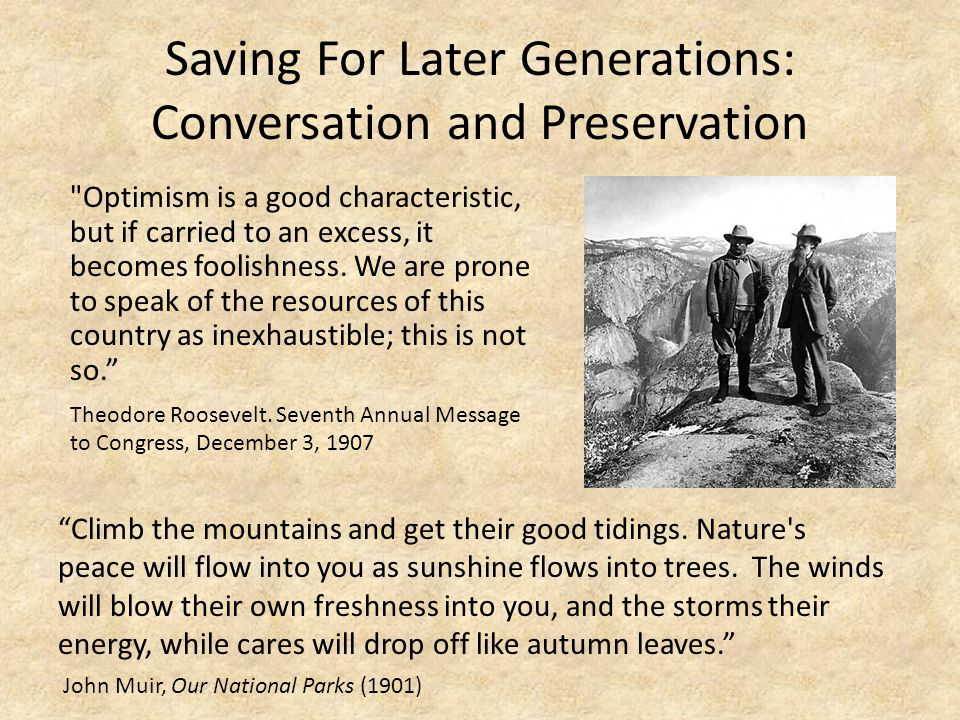 Saving For Later Generations: Conversation and Preservation