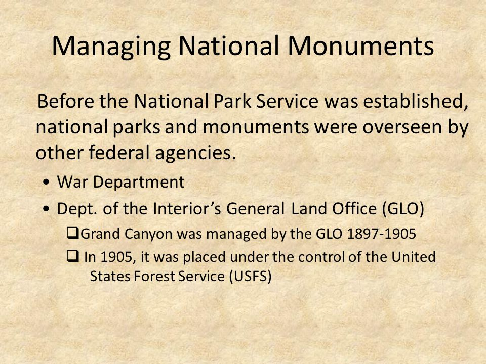 Managing National Monuments