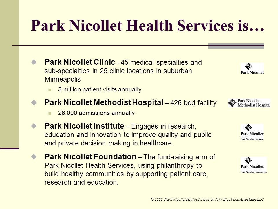 Park Nicollet Health Services is…