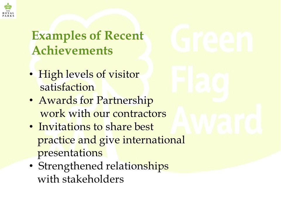 Examples of Recent Achievements