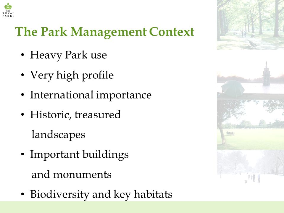 The Park Management Context