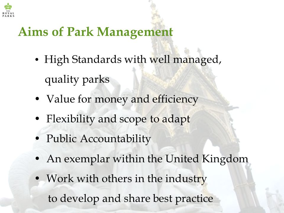 Aims of Park Management