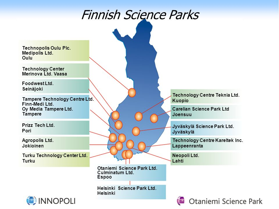 Finnish Science Parks Technopolis Oulu Plc. Medipolis Ltd. Oulu