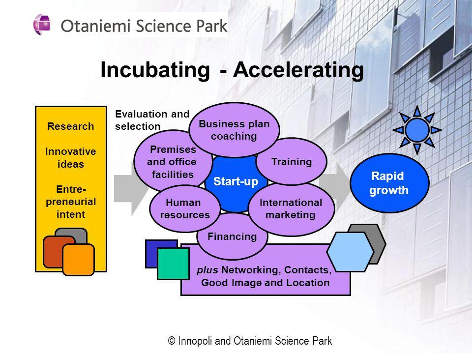 Incubating - Accelerating
