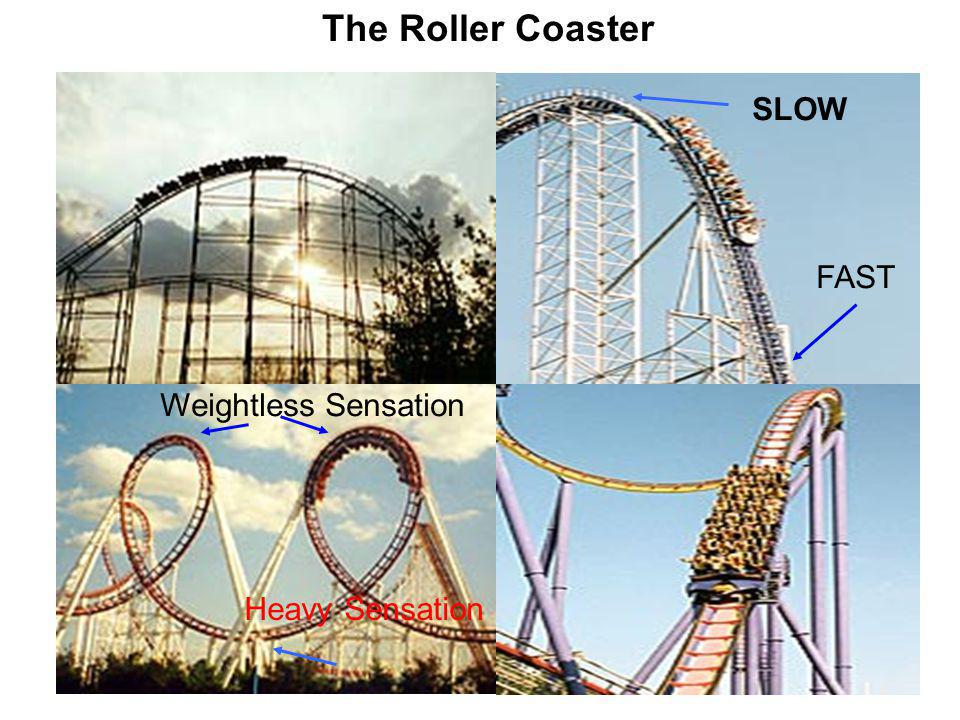 The Roller Coaster SLOW FAST Weightless Sensation Heavy Sensation