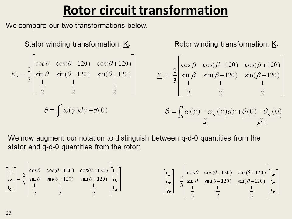Rotor circuit transformation