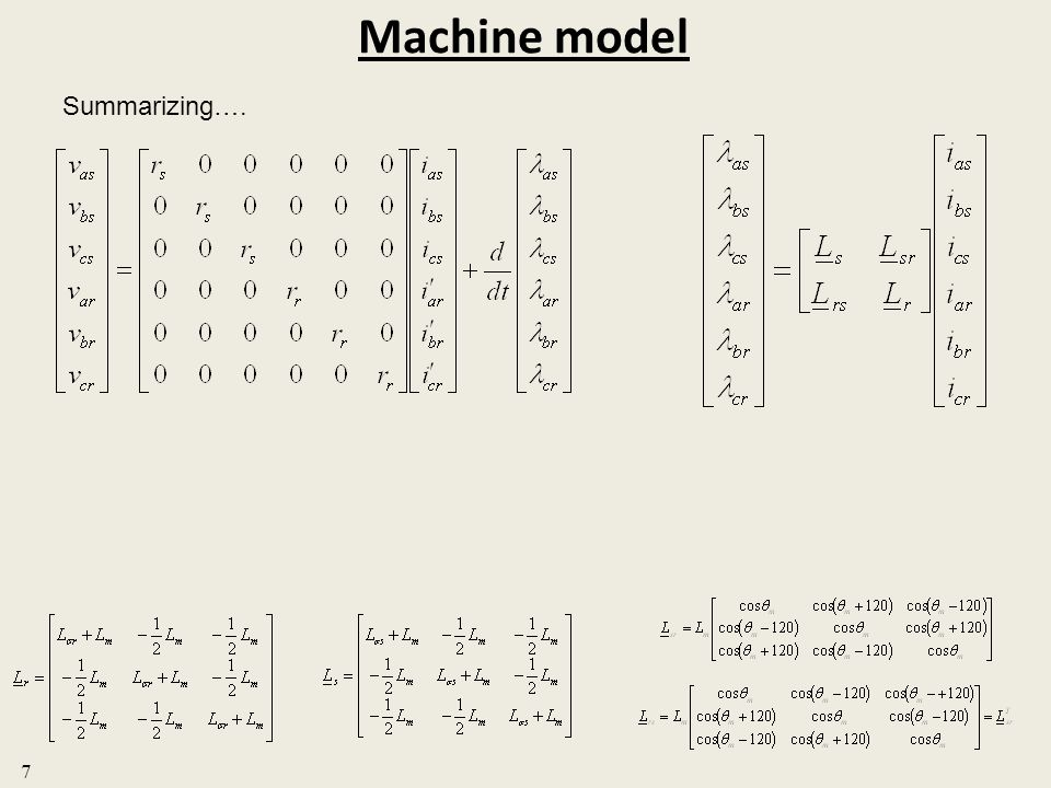 Machine model Summarizing…. 7