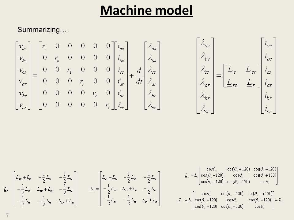 Machine model Summarizing…. 7
