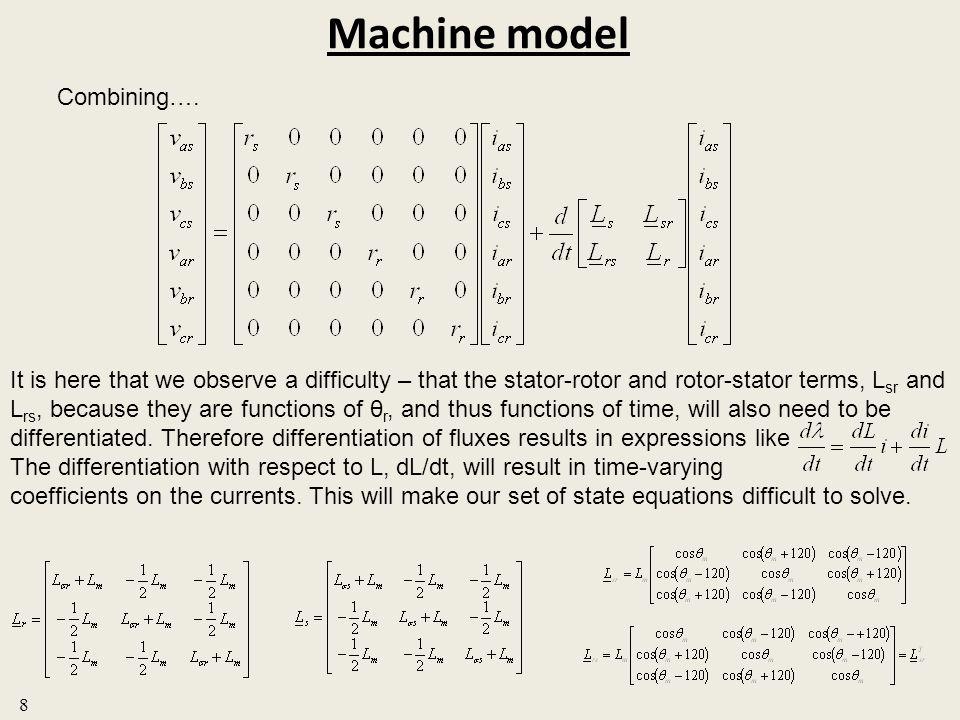 Machine model Combining….