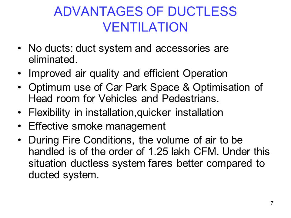 ADVANTAGES OF DUCTLESS VENTILATION