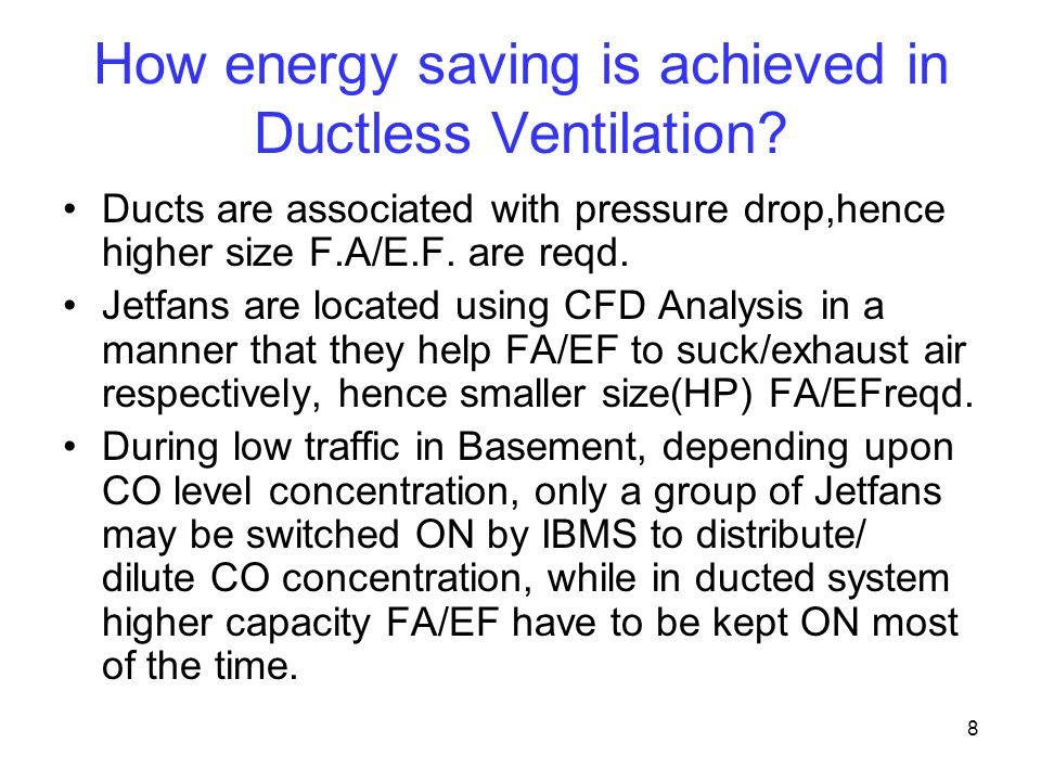How energy saving is achieved in Ductless Ventilation
