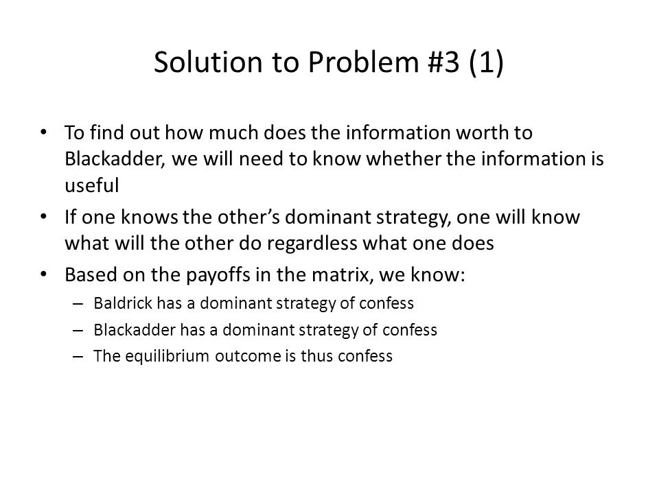Solution to Problem #3 (1)