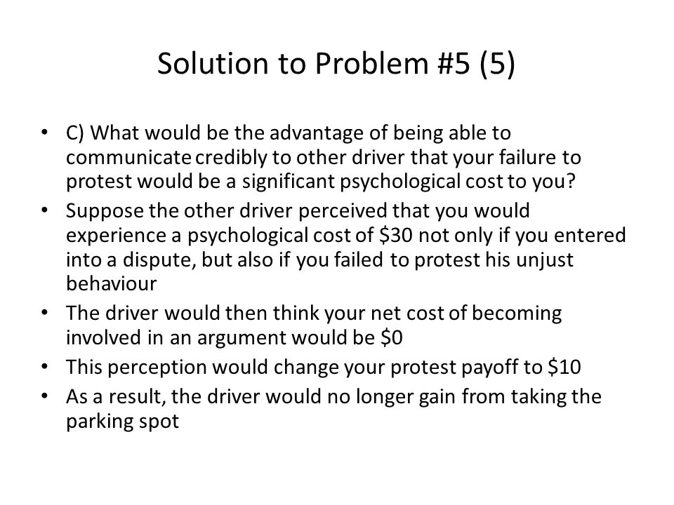 Solution to Problem #5 (5)