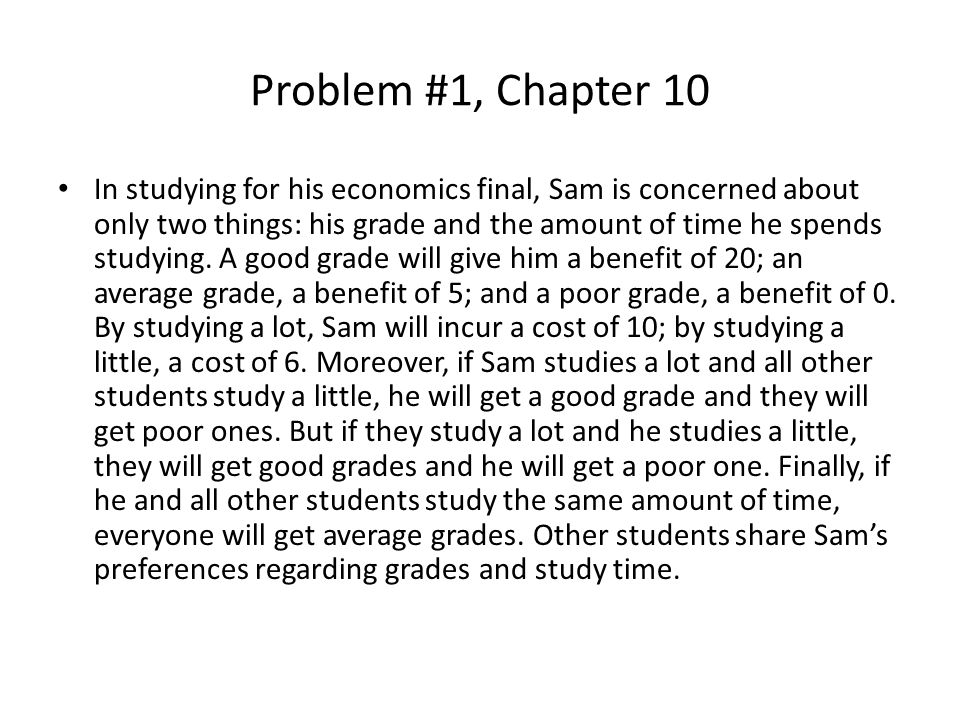 Problem #1, Chapter 10