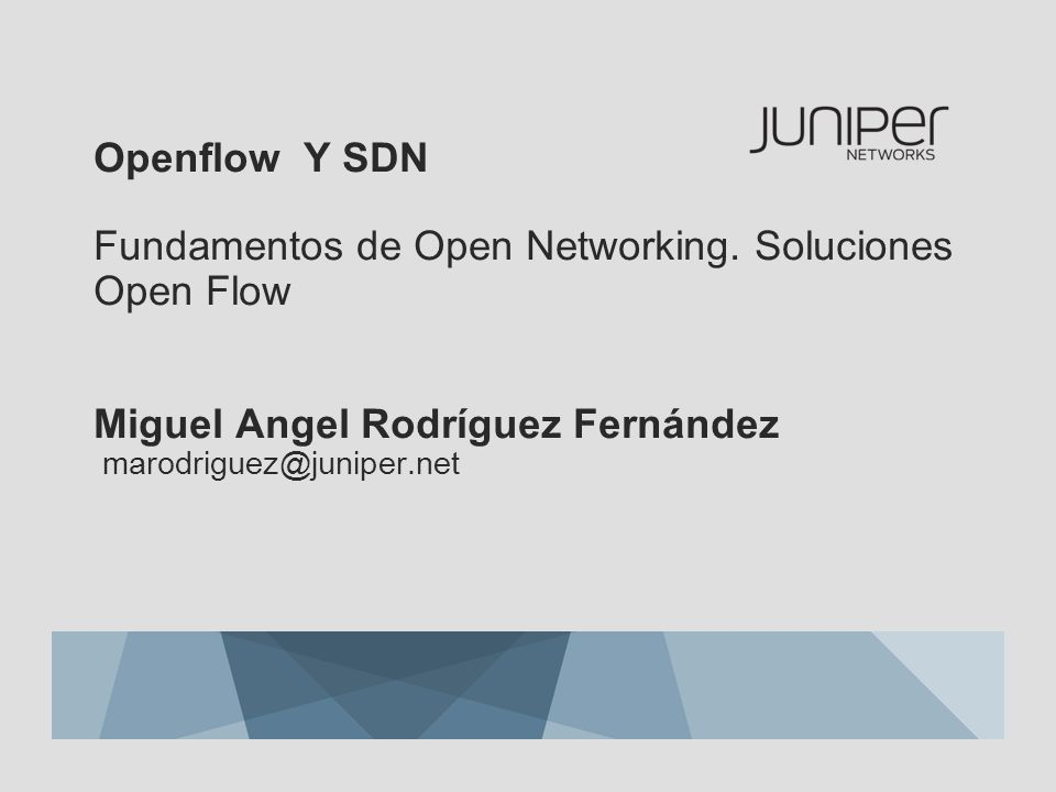 Openflow Y SDN Fundamentos de Open Networking
