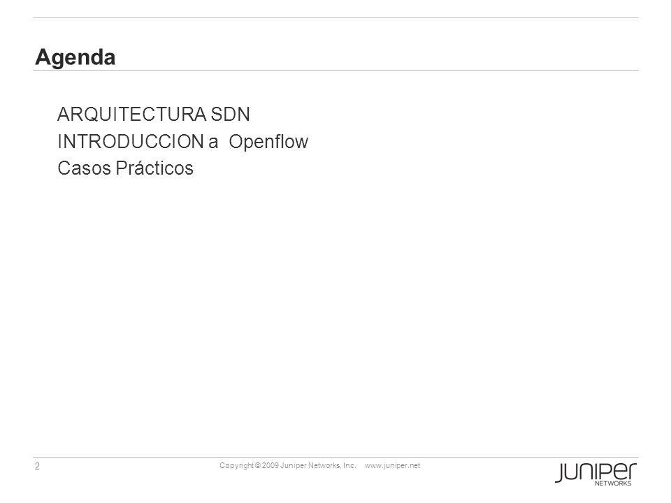 Agenda ARQUITECTURA SDN INTRODUCCION a Openflow Casos Prácticos