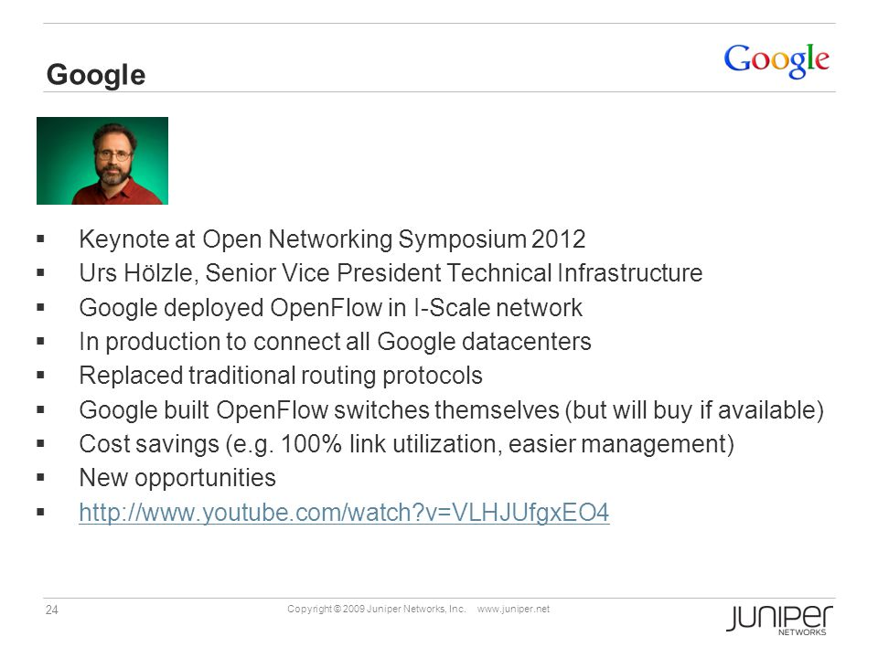 Google Keynote at Open Networking Symposium 2012