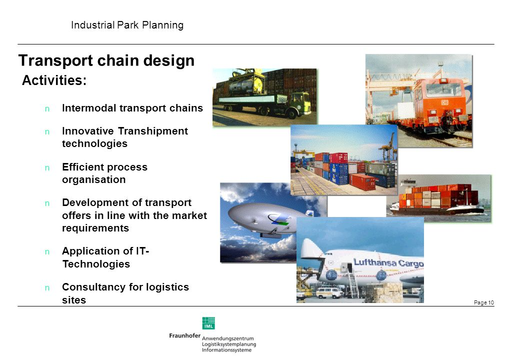 Transport chain design