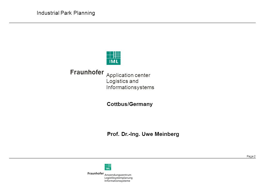 Fraunhofer Application center Logistics and Informationsystems