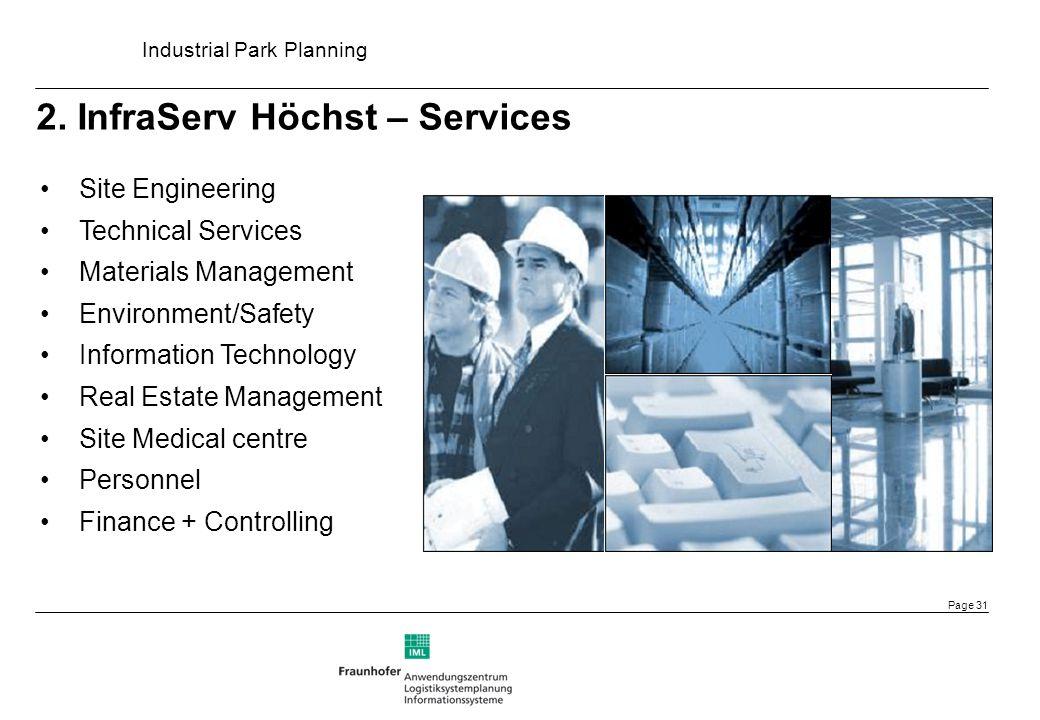 2. InfraServ Höchst – Services