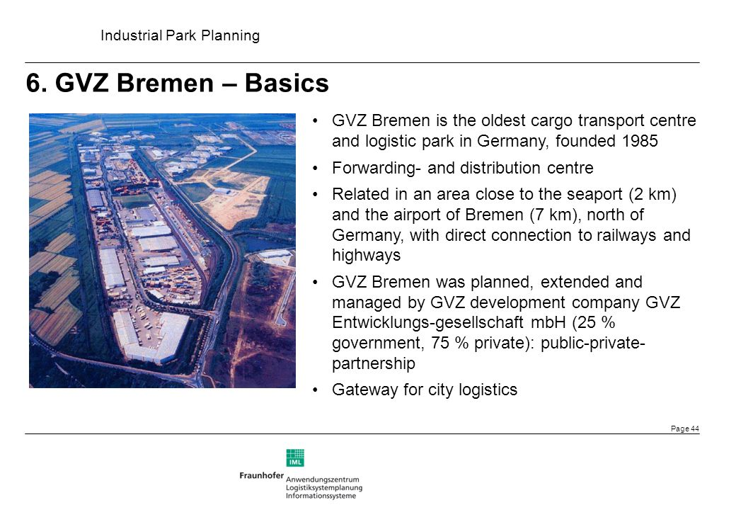 xxxx 6. GVZ Bremen – Basics. GVZ Bremen is the oldest cargo transport centre and logistic park in Germany, founded 1985.