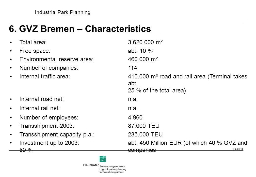 6. GVZ Bremen – Characteristics