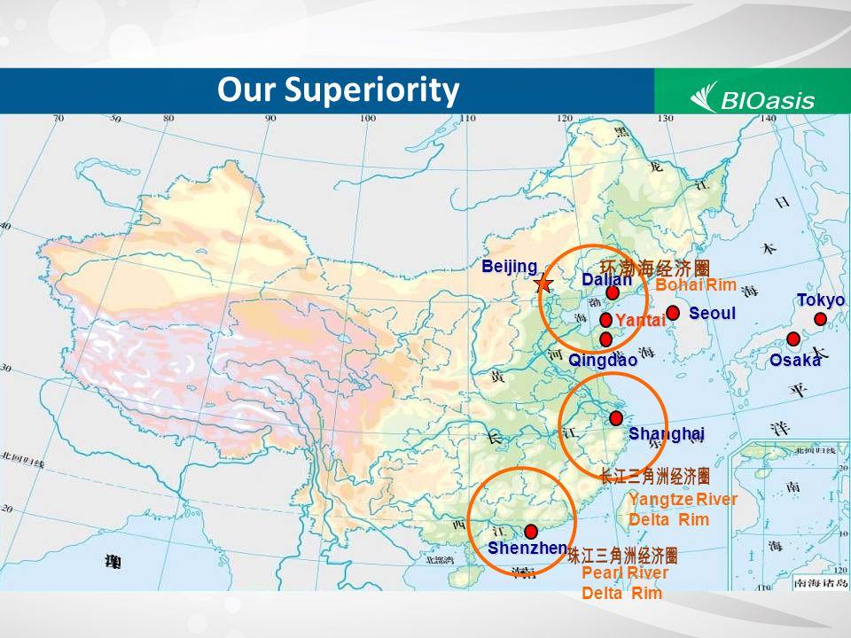Our Superiority 环渤海经济圈 长江三角洲经济圈 珠江三角洲经济圈 Beijing Dalian Bohai Rim