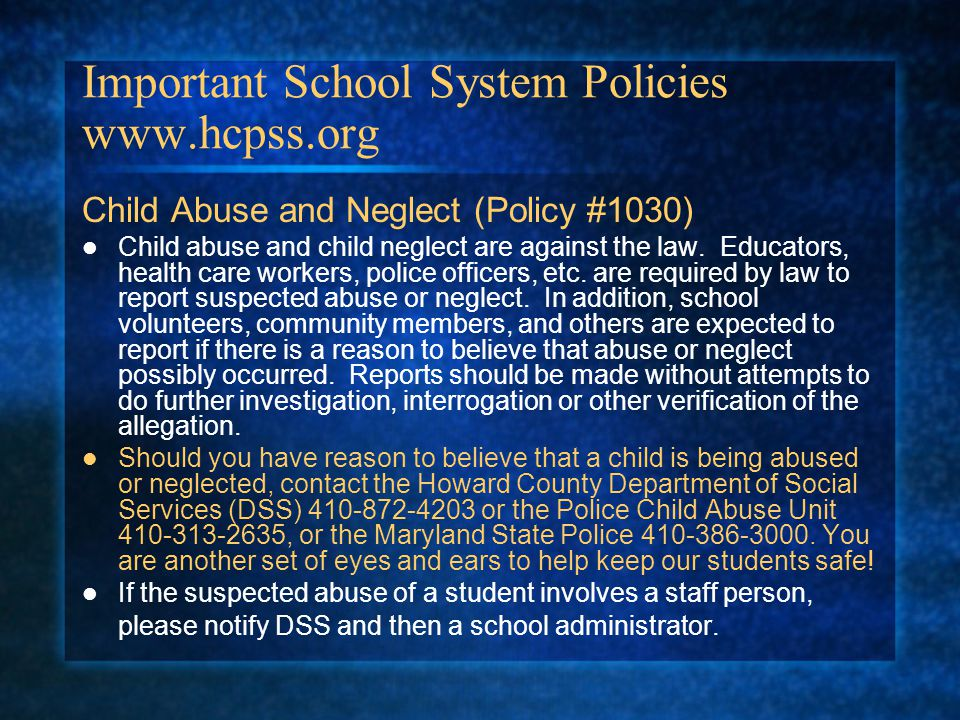 Important School System Policies