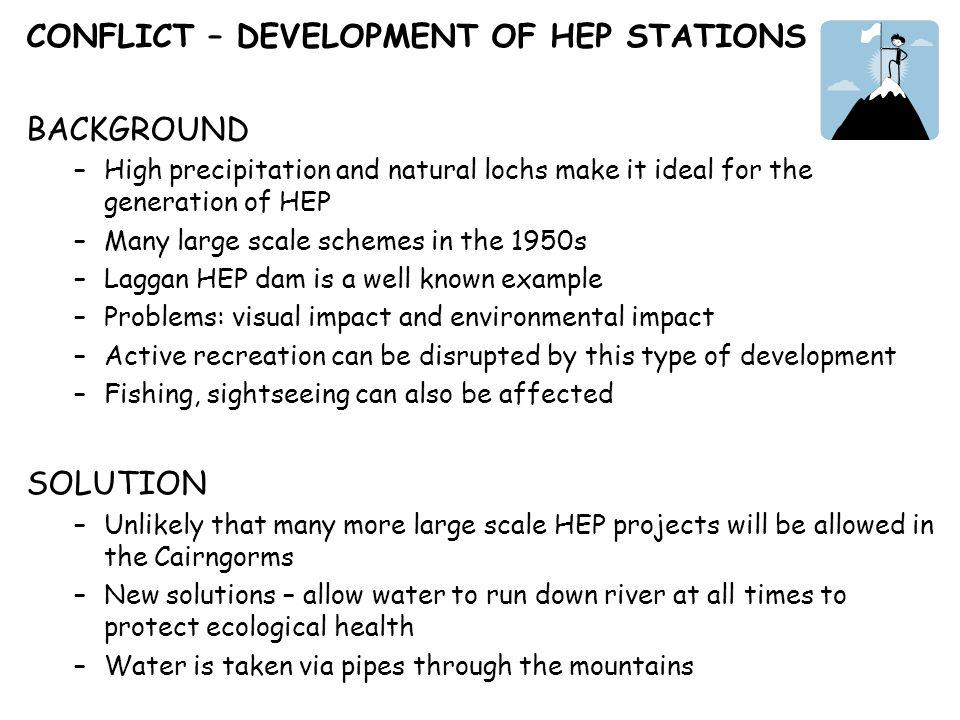CONFLICT – DEVELOPMENT OF HEP STATIONS BACKGROUND