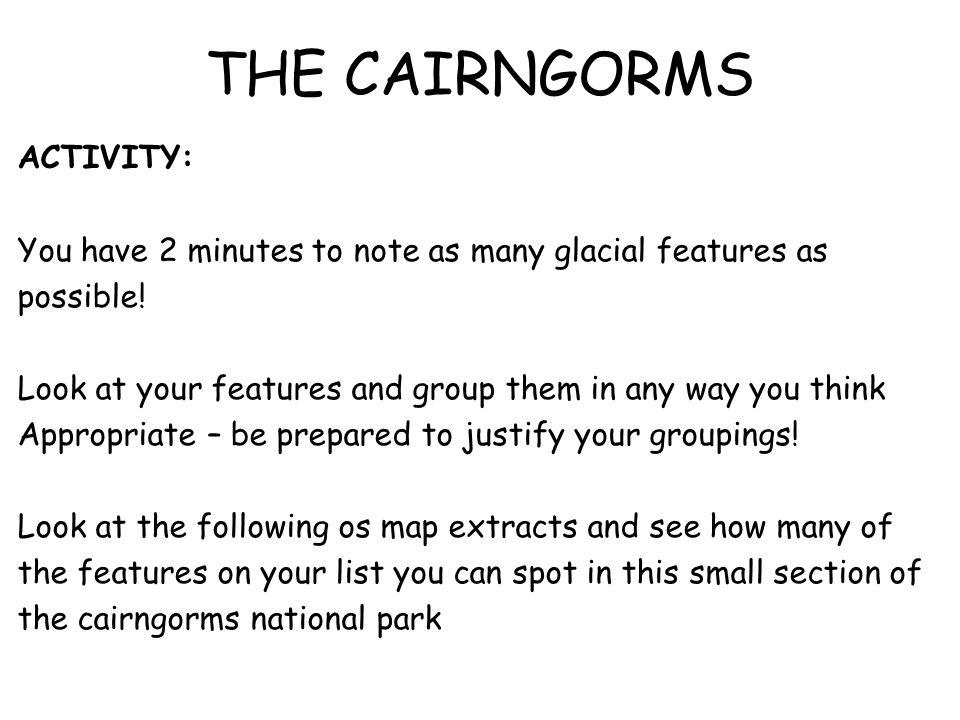THE CAIRNGORMS ACTIVITY: