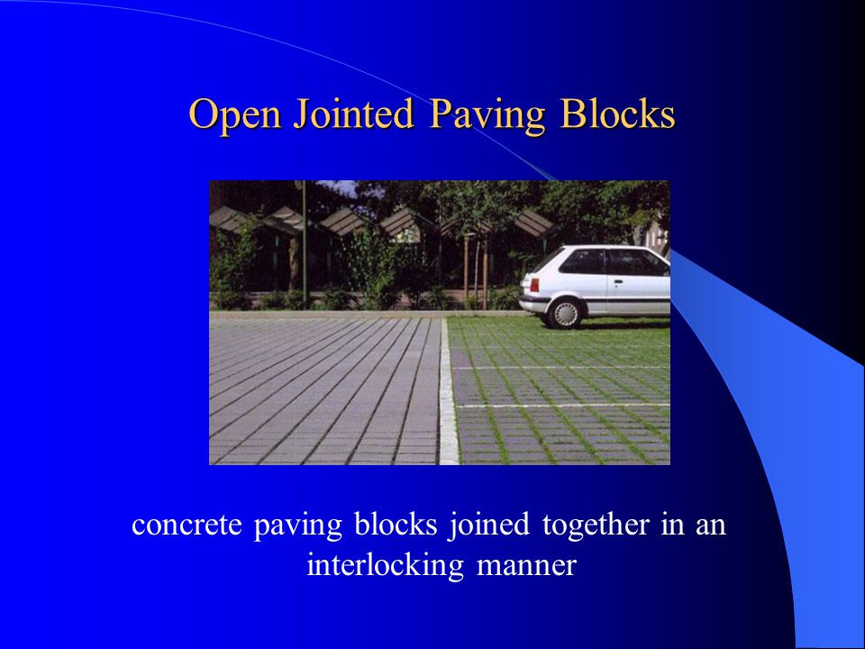Open Jointed Paving Blocks