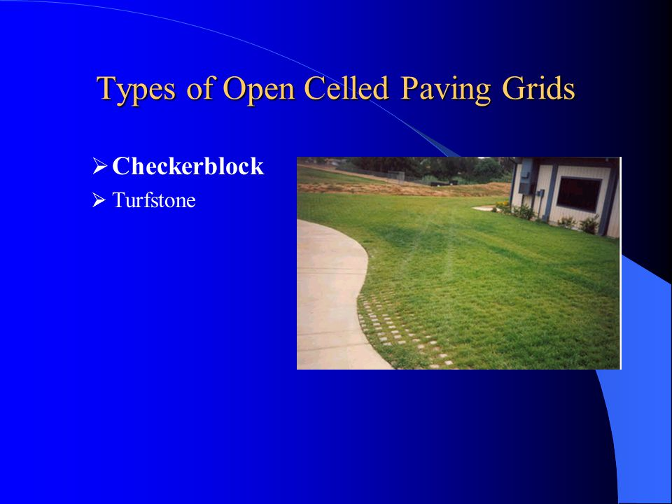 Types of Open Celled Paving Grids