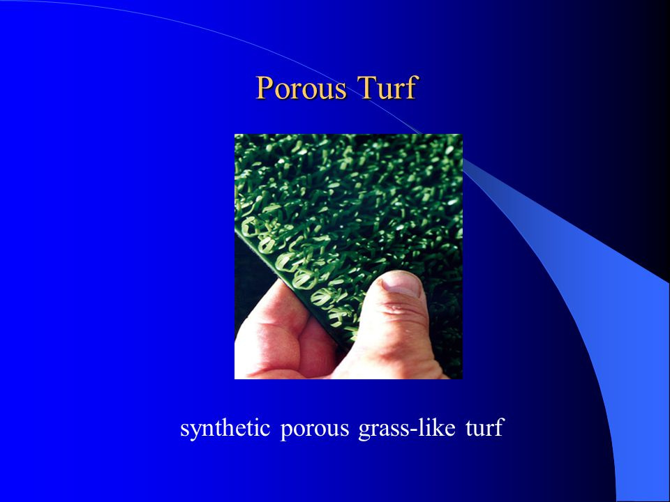synthetic porous grass-like turf