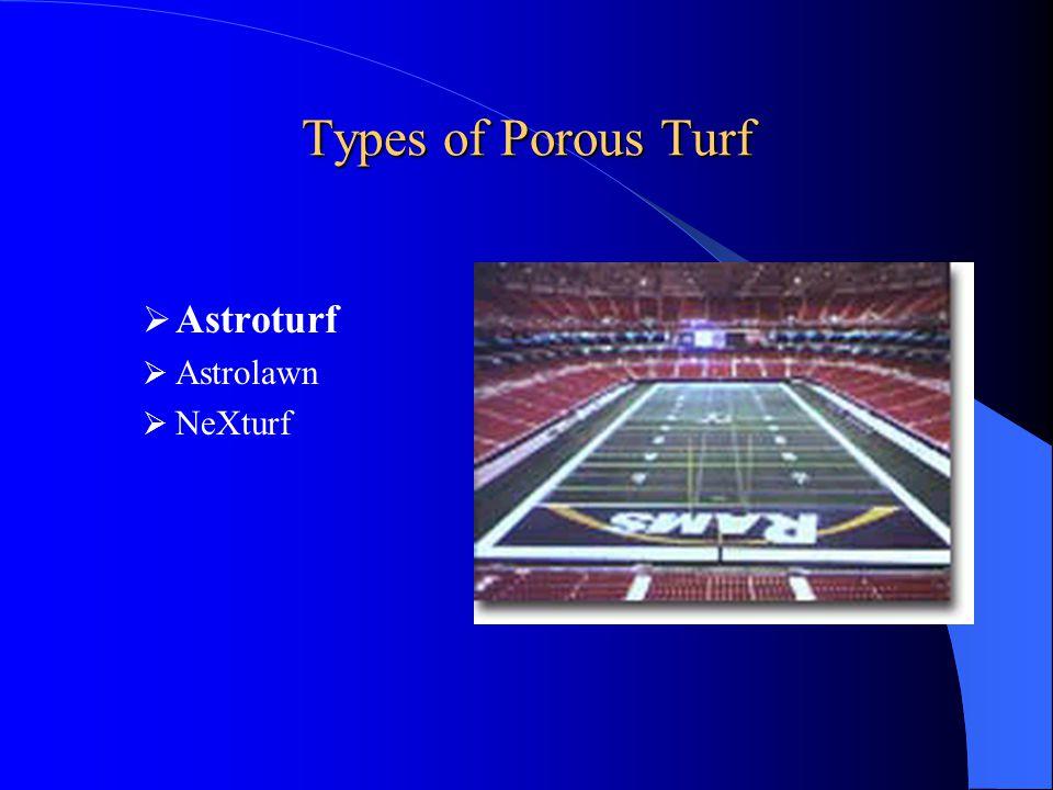 Types of Porous Turf Astroturf Astrolawn NeXturf