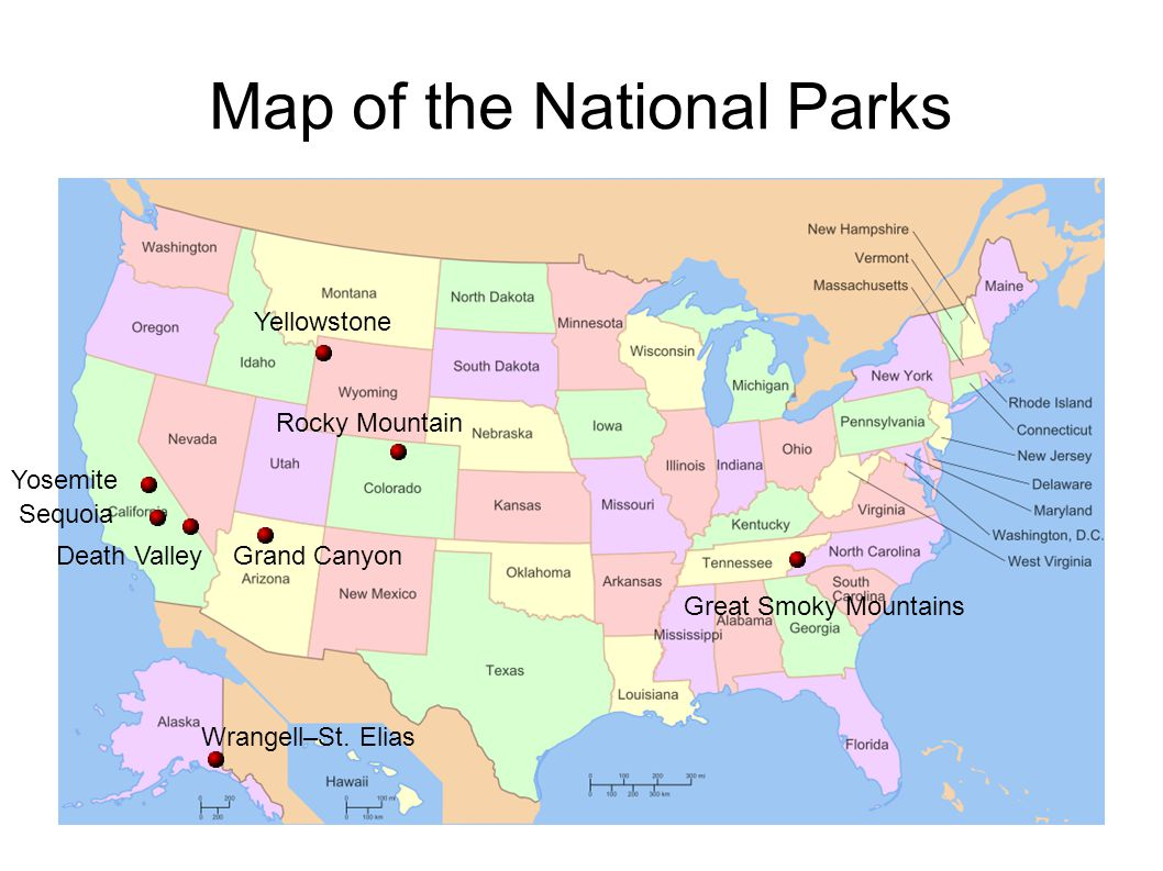 Usa National Parks Map Voronoi Map Of National Parks The Usa Us Rocky Mountains Map