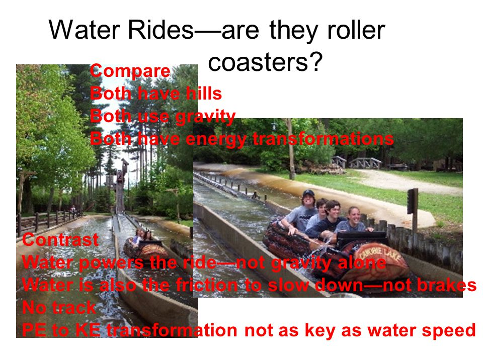 Water Rides—are they roller coasters