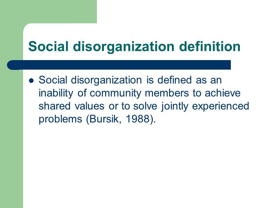 Social disorganization definition