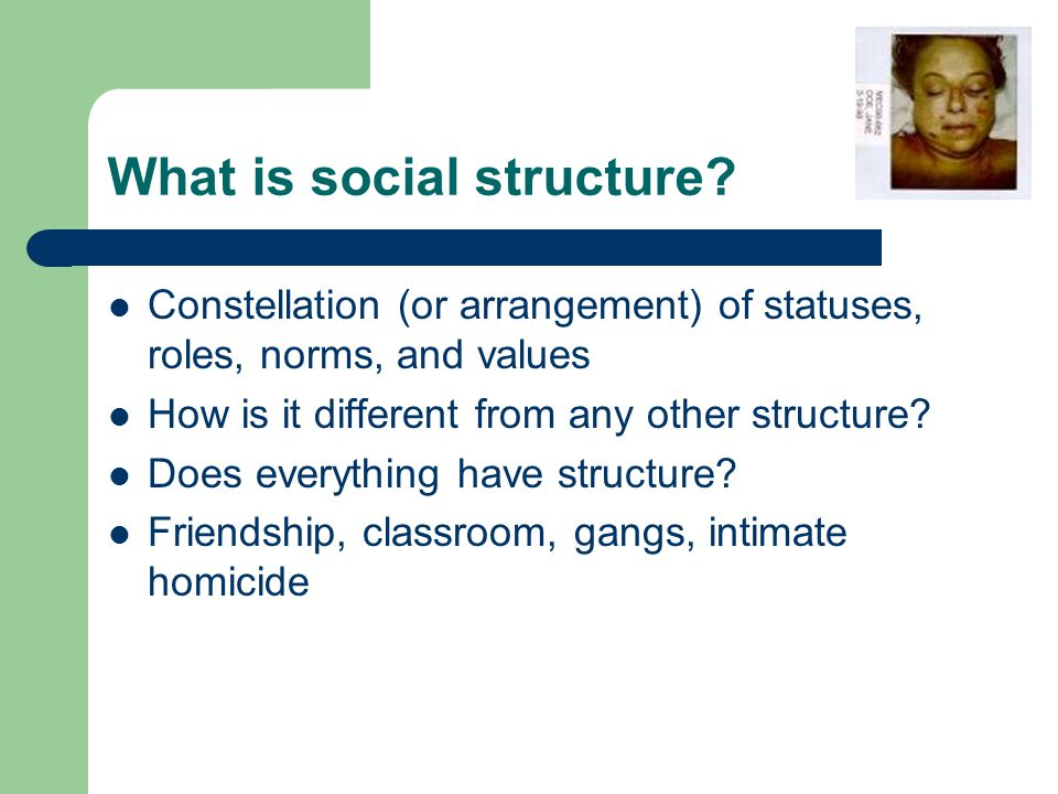 What is social structure