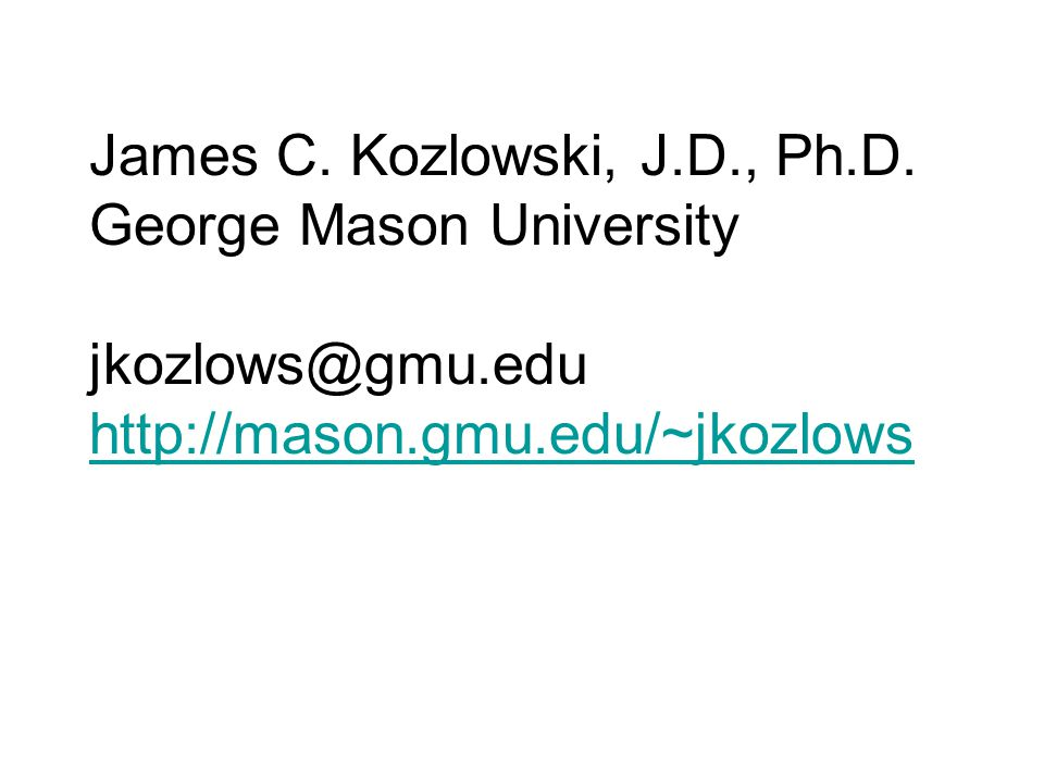 James C. Kozlowski, J.D., Ph.D.