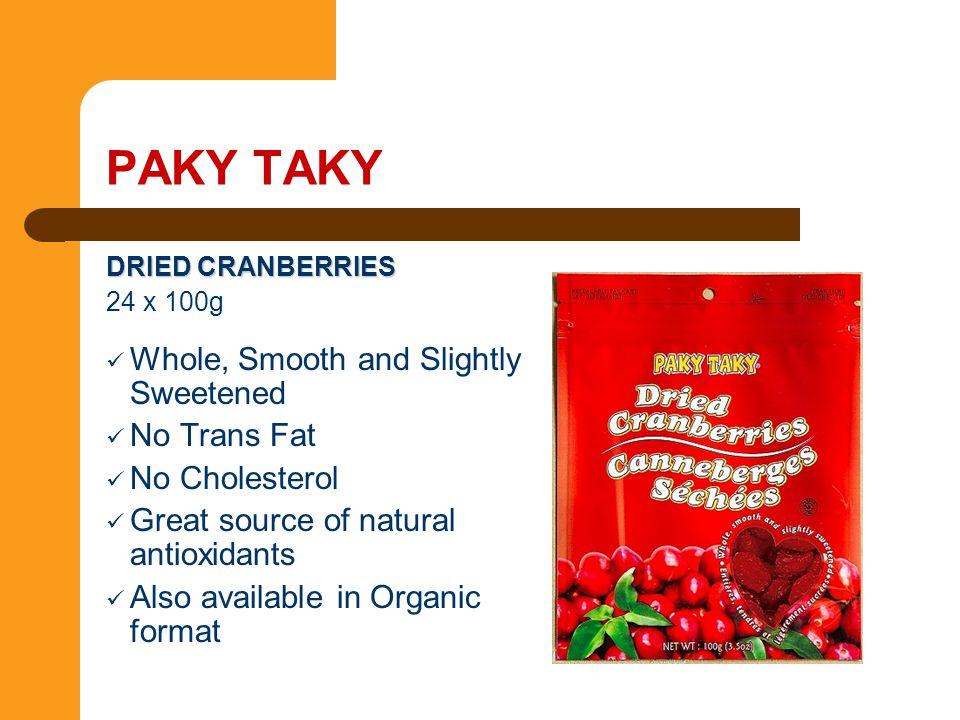 PAKY TAKY Whole, Smooth and Slightly Sweetened No Trans Fat