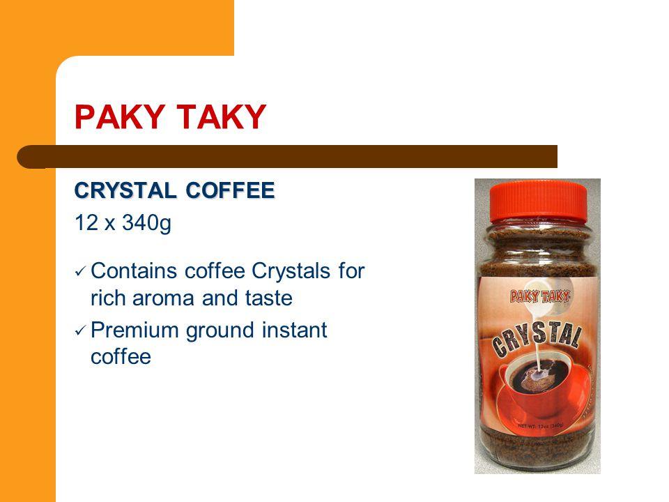 PAKY TAKY CRYSTAL COFFEE 12 x 340g