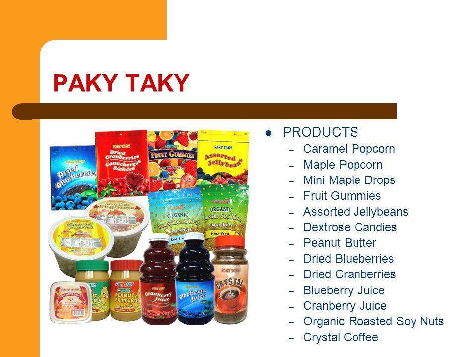 PAKY TAKY PRODUCTS Caramel Popcorn Maple Popcorn Mini Maple Drops