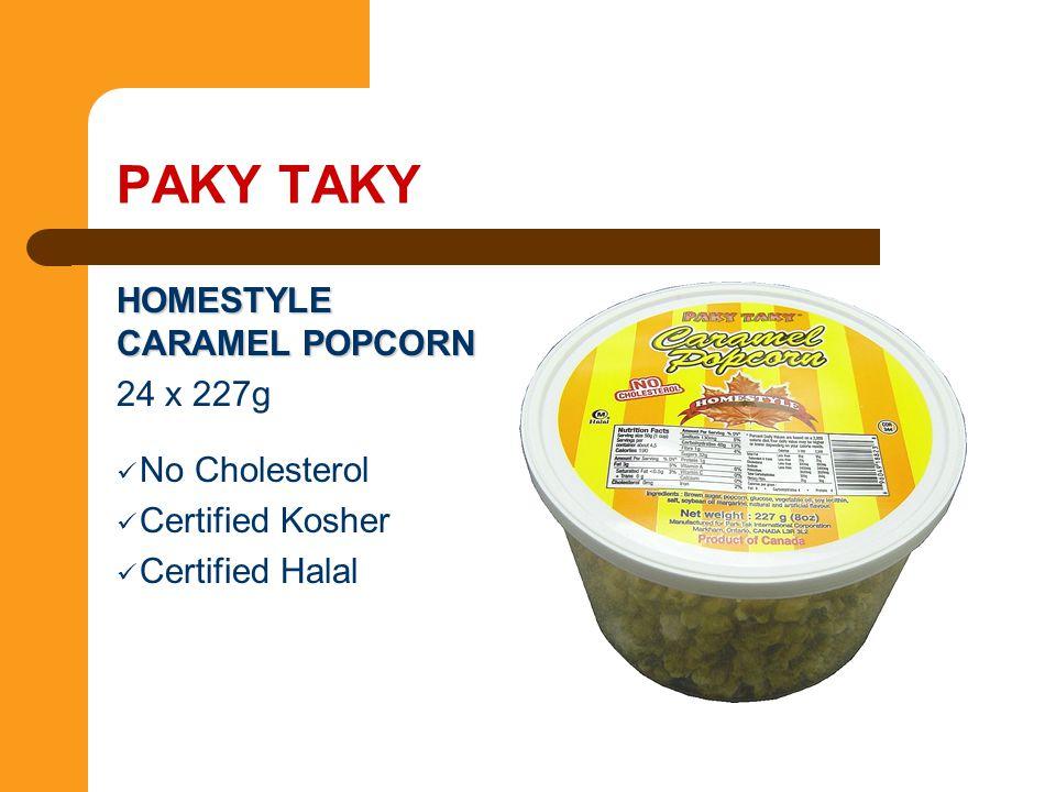 PAKY TAKY HOMESTYLE CARAMEL POPCORN 24 x 227g No Cholesterol