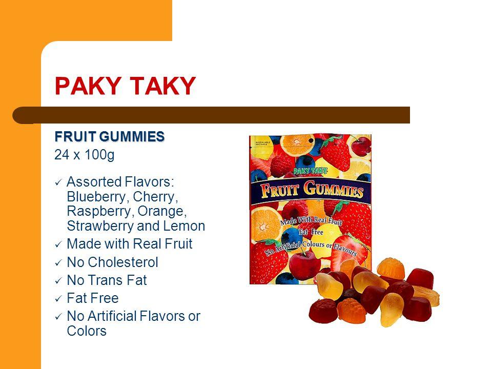 PAKY TAKY FRUIT GUMMIES 24 x 100g