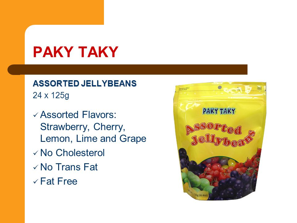 PAKY TAKY Assorted Flavors: Strawberry, Cherry, Lemon, Lime and Grape