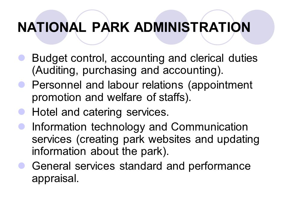 NATIONAL PARK ADMINISTRATION