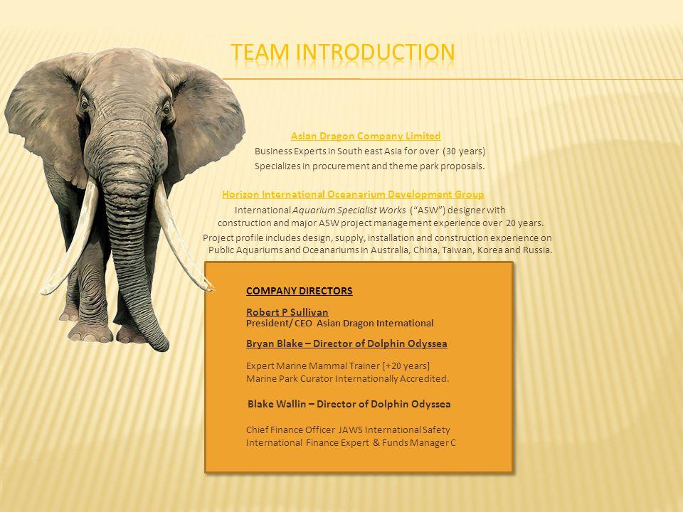 Team Introduction Horizon International Oceanarium Development Group