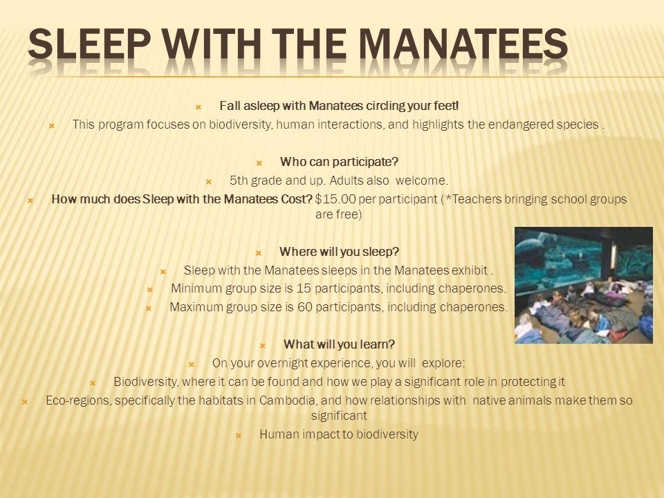 Sleep with the Manatees