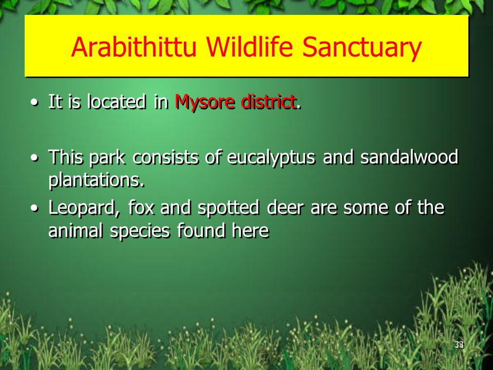 Arabithittu Wildlife Sanctuary